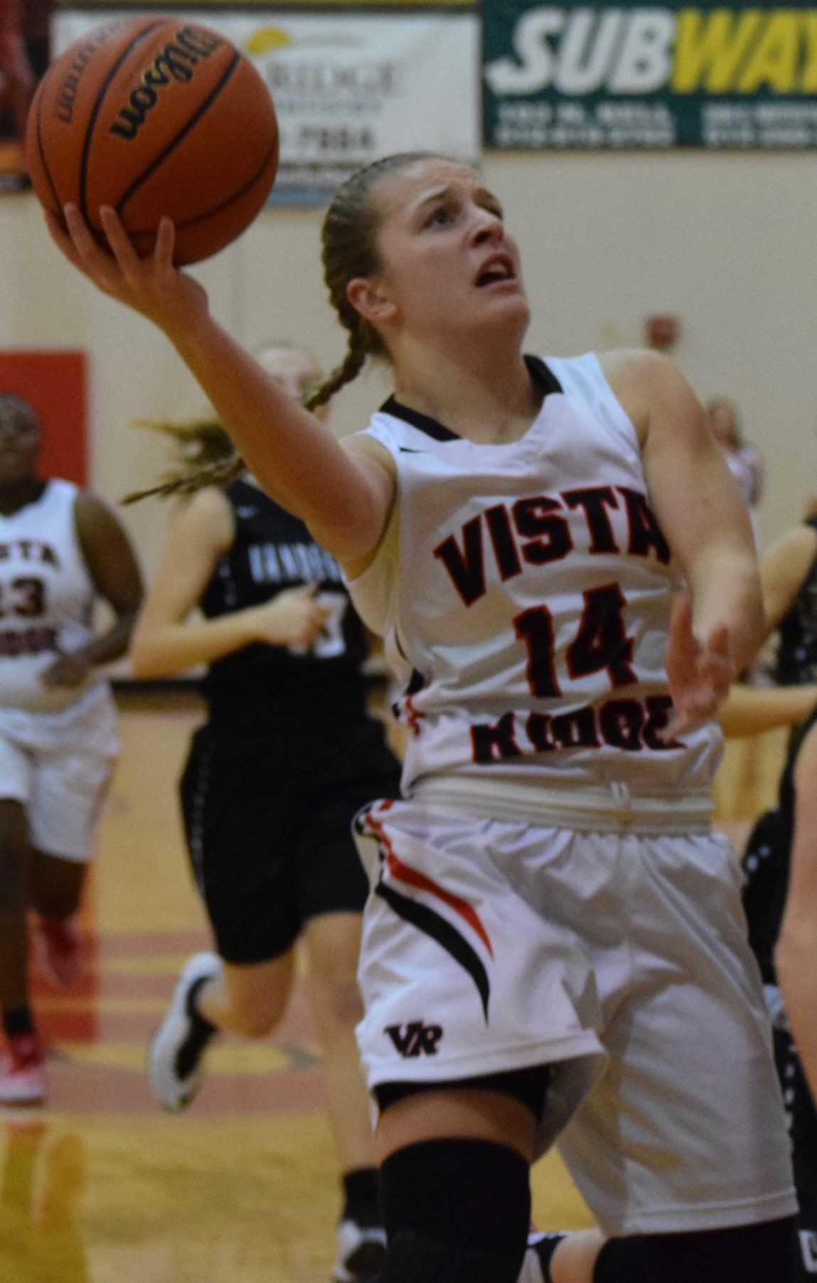 Nikki Cardano-Hillary scored 35 points in her final game at the Vista Ridge gymnasium and the Lady Rangers beat Vandegrfit 61-53 Friday night.