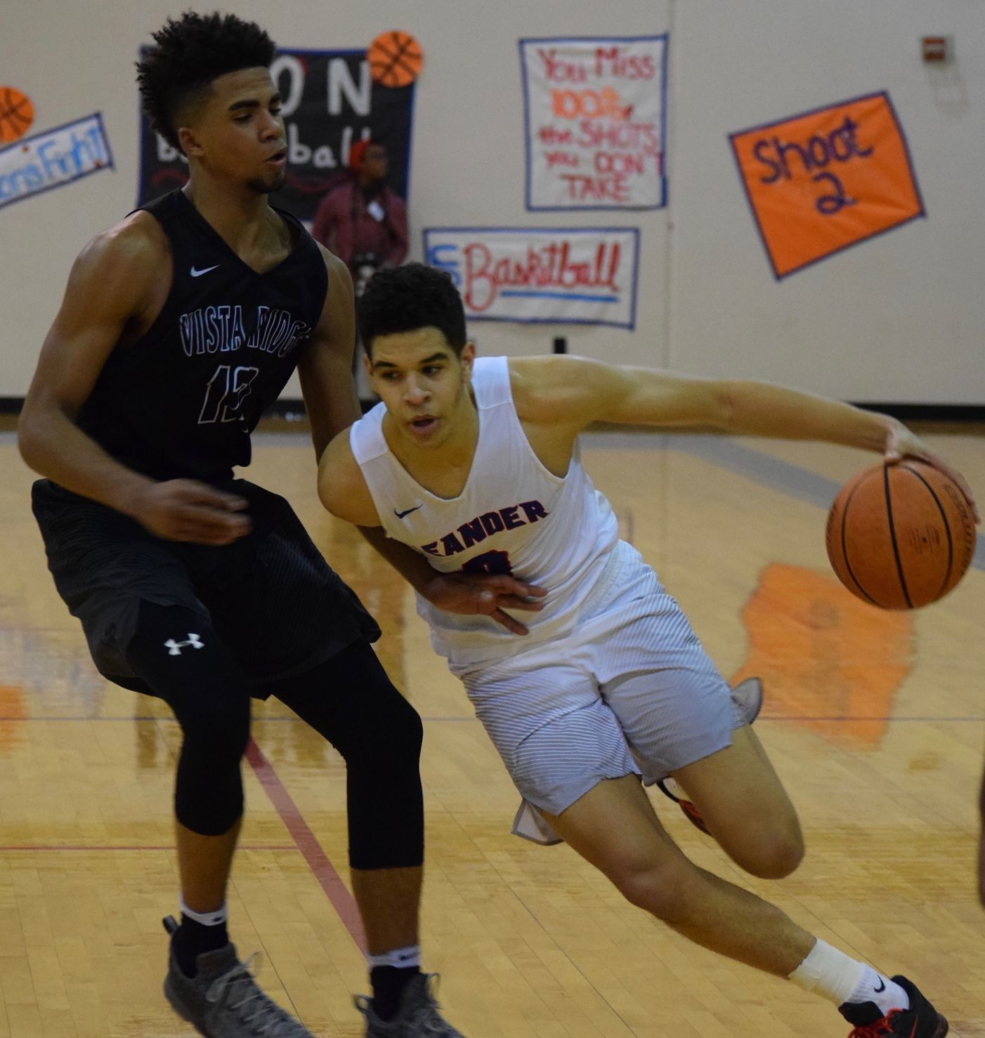 Kobe Thompson scored 17 points and Leander rallied form a fourth quarter deficit to beat Vista Ridge 65-61 in overtime Tuesday night.