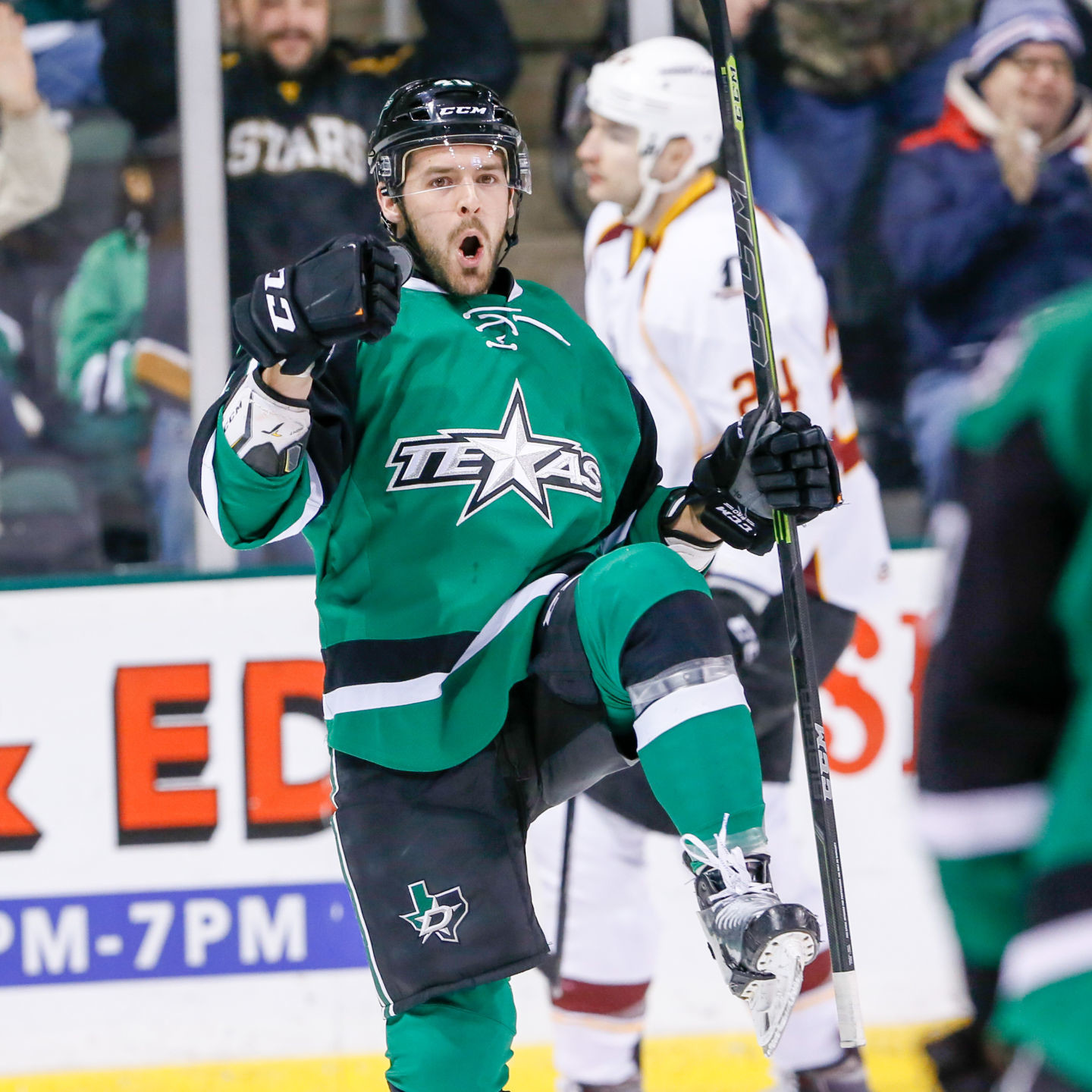 Caleb Herbert scored a goal in regulation and another in the shootout as the Texas Stars fell to the Cleveland Monsters 2-1 in a shootout Saturday night at the HEB Center.