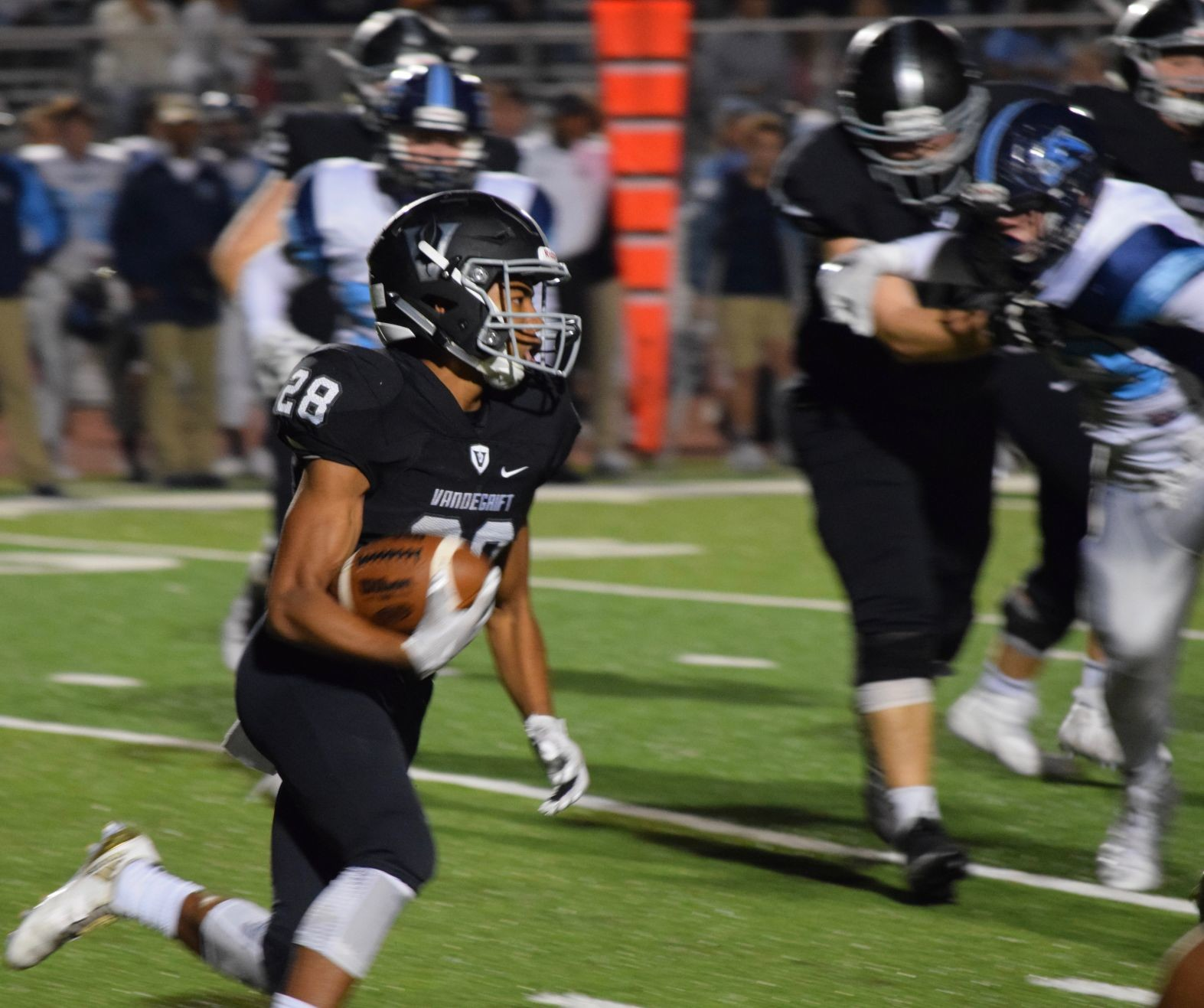 Mack Parker had 27 yards and a touchdown as Vandegrift rallied to beat San Antonio Johnson 27-26 in the first round of the playoffs on Friday.