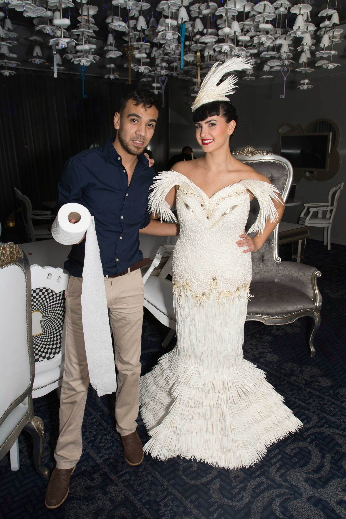 Cedar Park man competes with toilet paper wedding dress | Hill ...