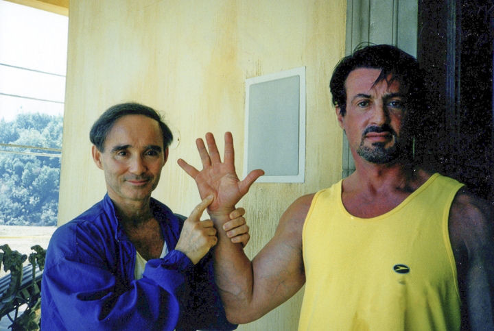 Anthony Carr with Sylvester Stallone in 1999.