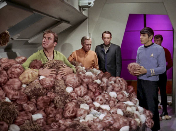 "William Schallert in the highly popular ""Star Trek"" episode ""The Trouble with Tribbles."""