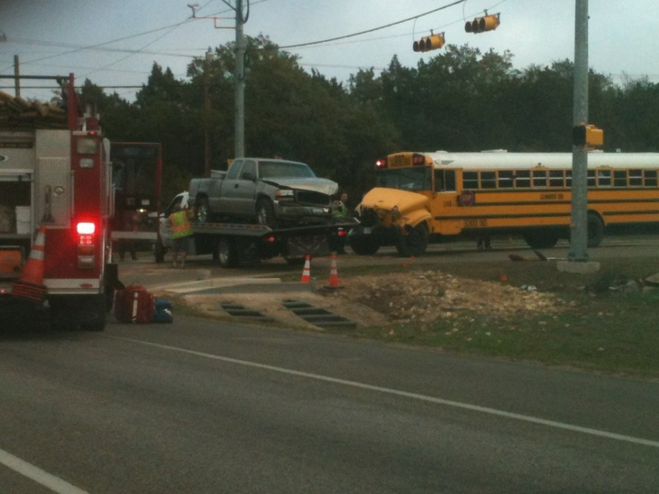 One Injured In Lisd School Bus Crash Hill Country News