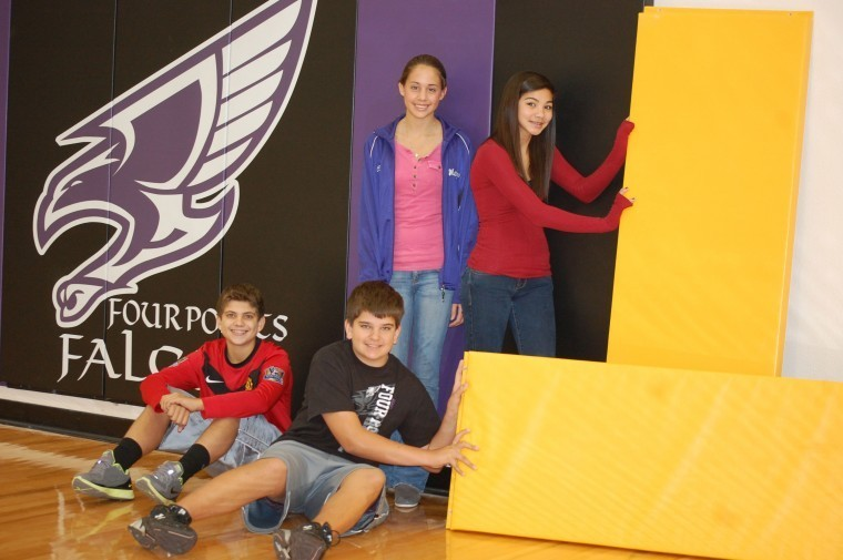 Four Points Middle School boosters 'falconize' gym | Hill