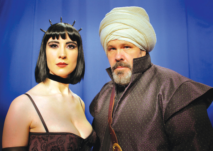 From left, Chris Romani as Evil-Lyn and Russell Minton as Kothos