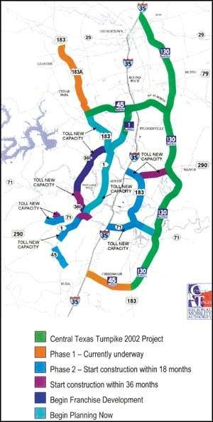 Officials Propose Maze Of Central Texas Toll Roads Hill Country News - 183a toll road map