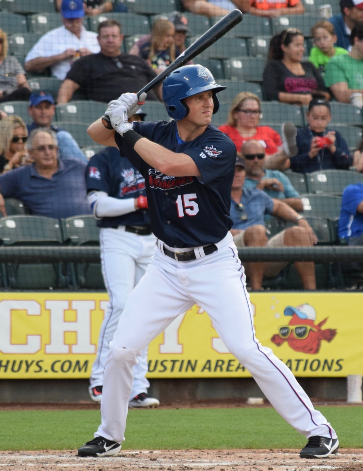 Drew Stubbs doesn't have the most home runs or RBIs on the Round Rock Express, but he is second in OPS, a statistic that measures a player's overall offensive production.