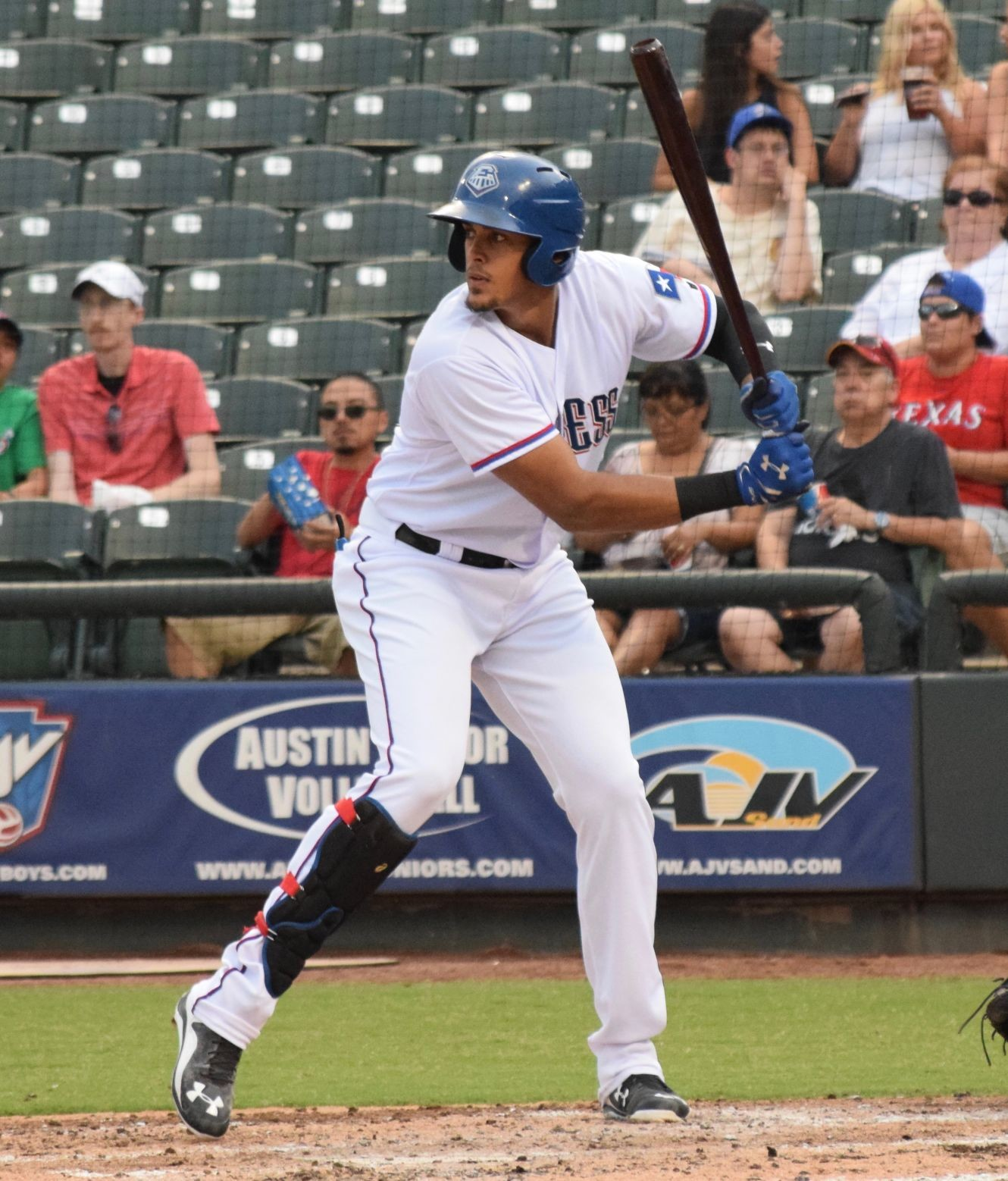 Ronald Guzman wasn't a Triple-A All-Star this season and instead used the time off to recharge his batteries and spend time with his family visiting from the Dominican Republic.