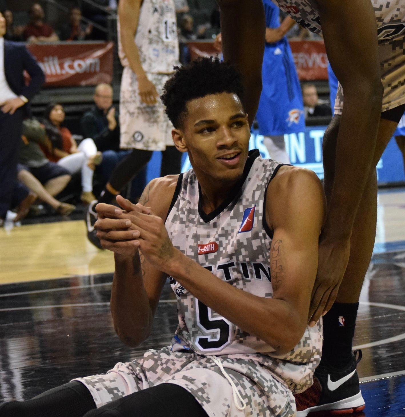 Former San Antonio first-round draft pick Dejonte Murray is one of six players with the Spurs this summer that spent time in Austin during last season.