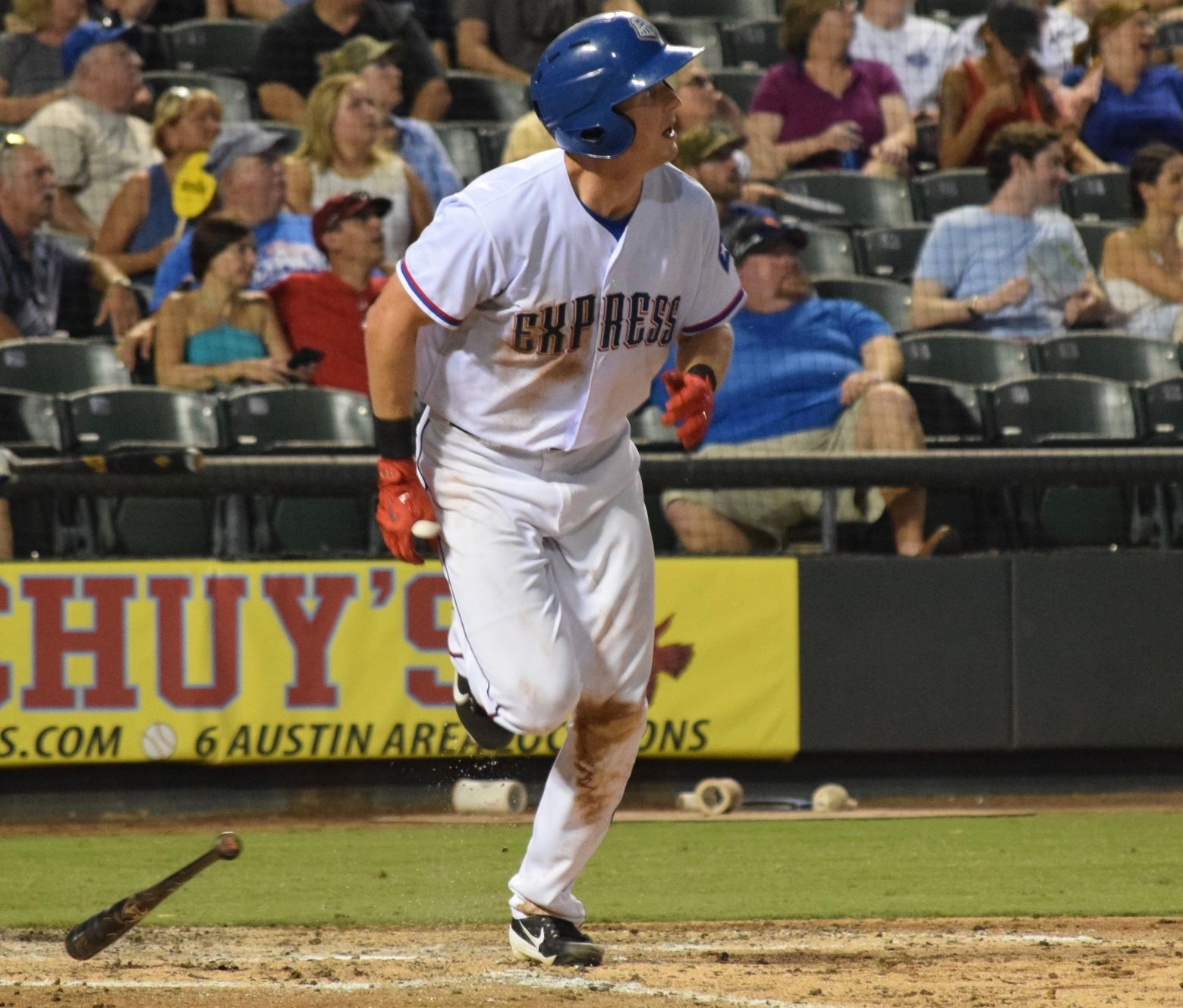 Drew Stubbs finished three hits and three RBIs in Round Rock's 9-1 win against El Paso on Saturday night.