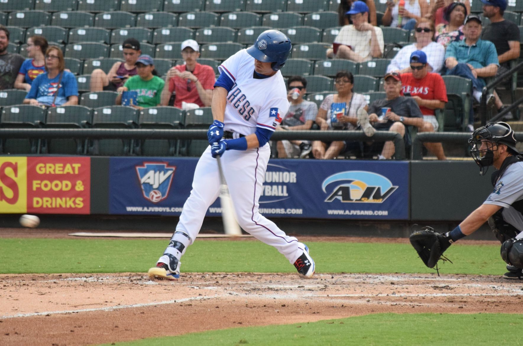 Brett Nicholas has the second best batting average on the Express this season in 69 appearances. He's going back to the major leagues after two stints with the Rangers in 2016.