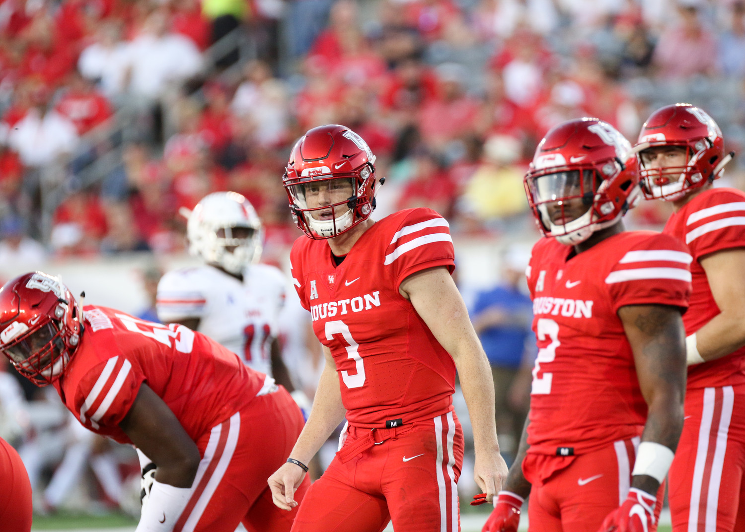 Quarterback Kyle Postma (3) and the Houston Cougars host No. 25 Memphis Thursday, October 19, 2017.