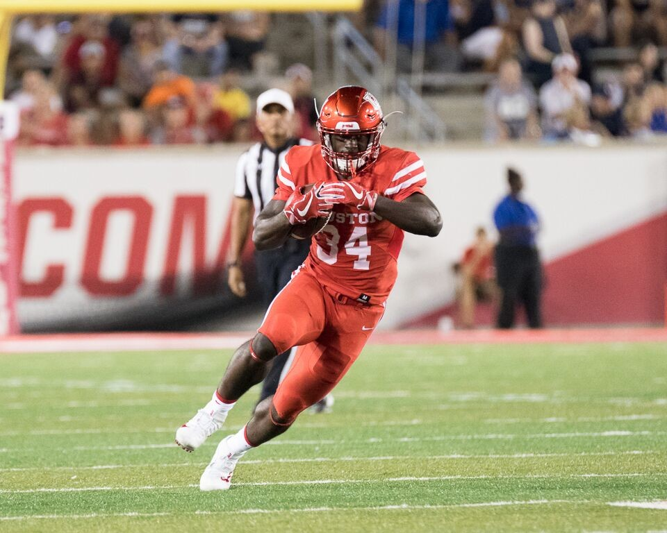 Running back Mulbah Car rushed for 137 yards on 18 carries in Houston's win over USF.