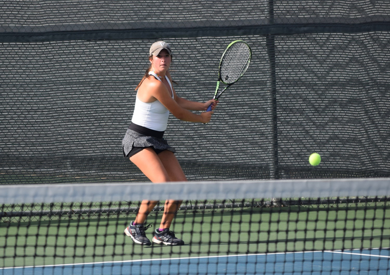 Gabby Cusano won her singles match and doubles match in state semifinals. The Vandegrift tennis team lost 10-4 to Houston Memorial.