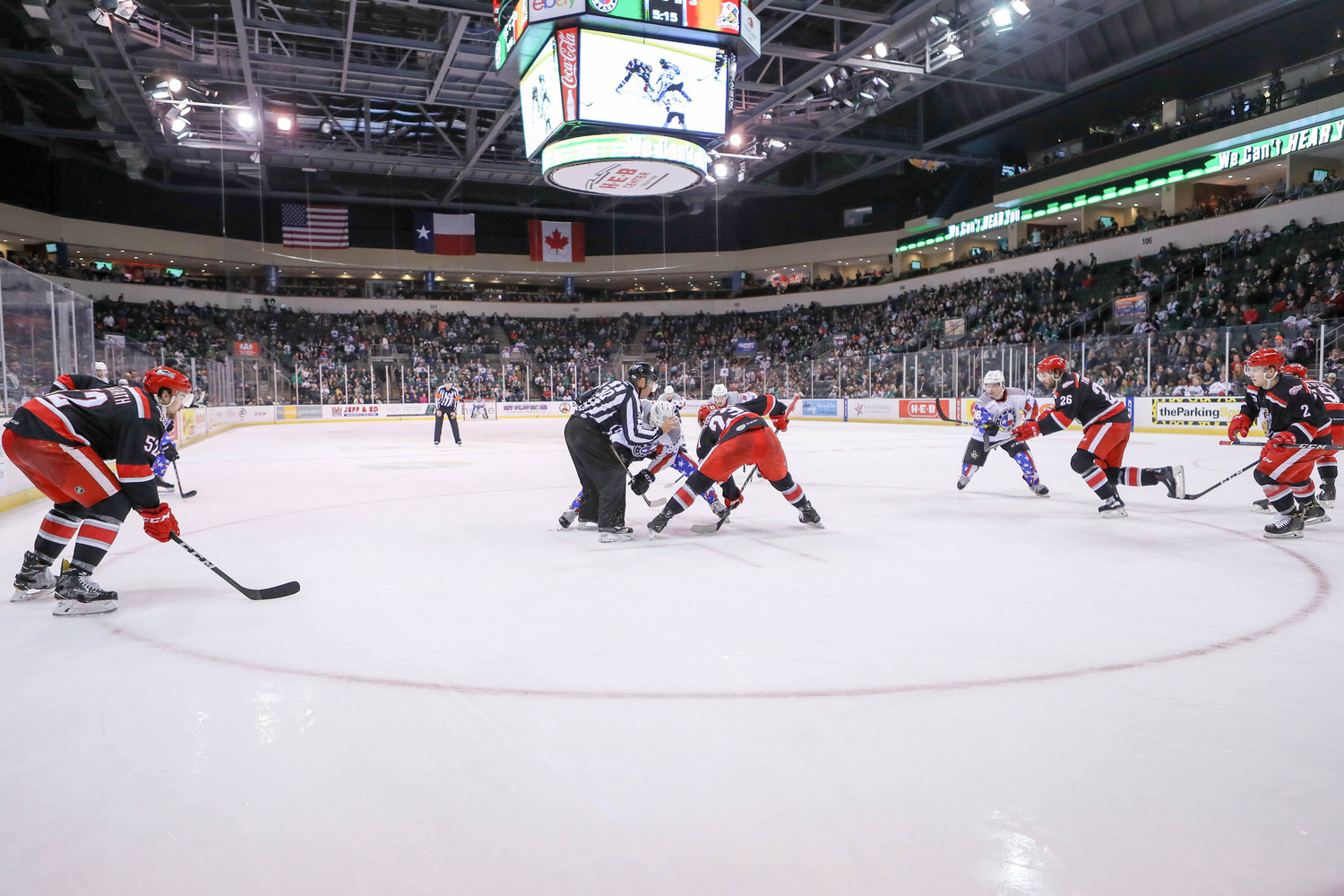 Texas Stars take on the Grand Rapids Griffins at the HEB Center in Cedar Park, Texas, on November 11, 2017.
