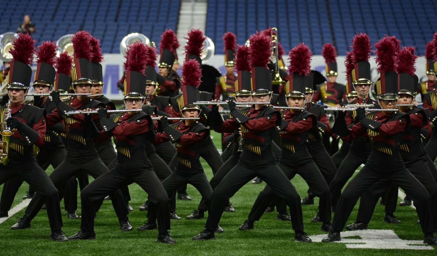 "The Rouse High School marching band performs their show, ""Lotus,"" which earned them ninth overall at the UIL State Marching Band Championship at the Alamodome, Nov. 8."