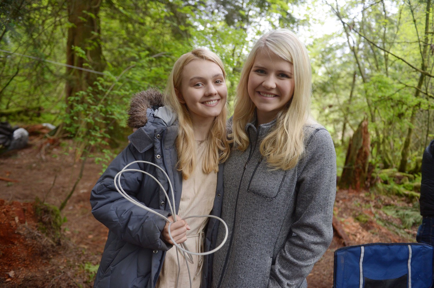 "Alana Boden, left, with Elizabeth Smart on the set of ""I Am Elizabeth Smart."""
