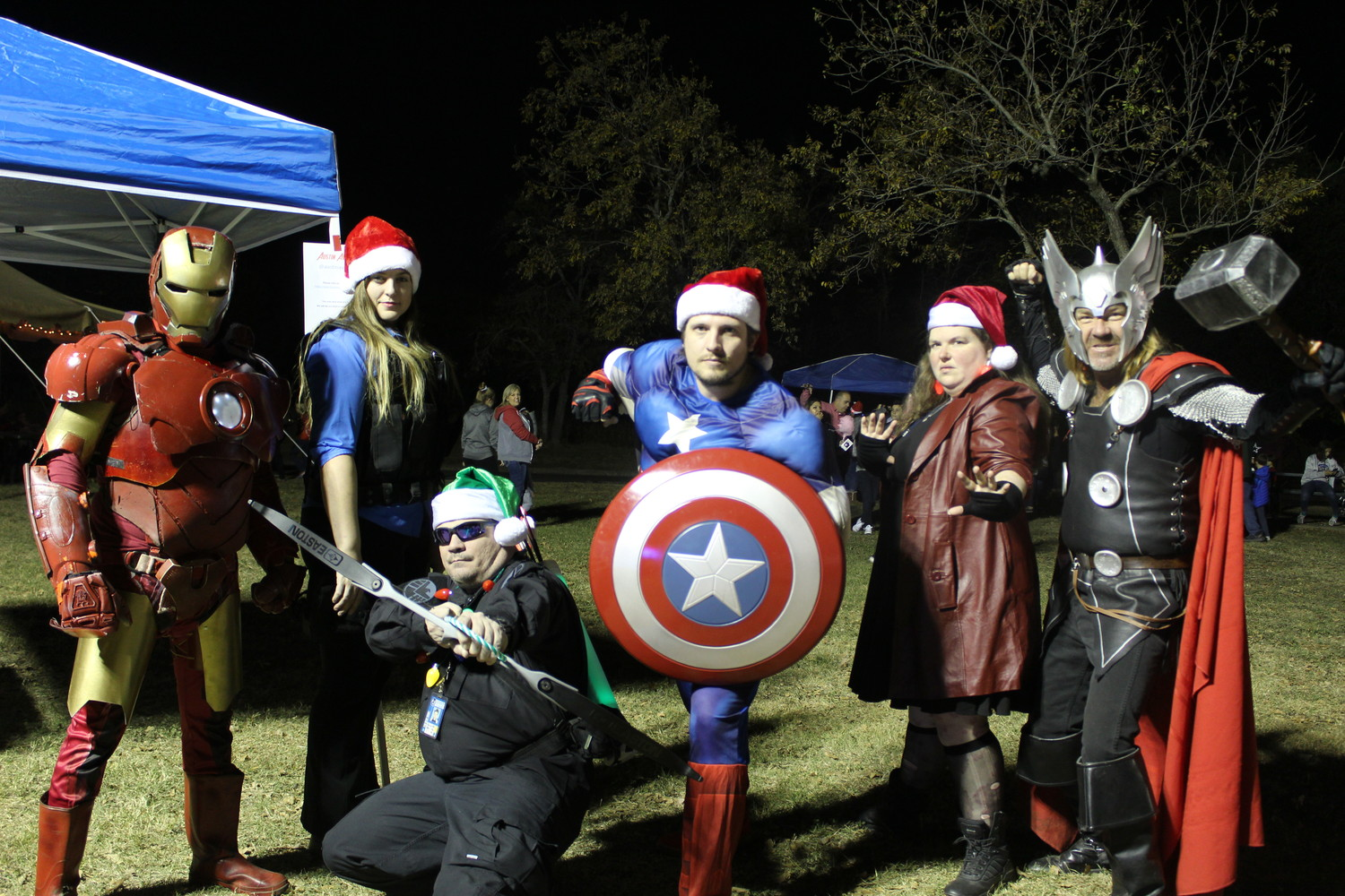 The Austin Avengers strike a pose at the Cedar Park Tree Lighting and Santa's workshop, Dec. 1.