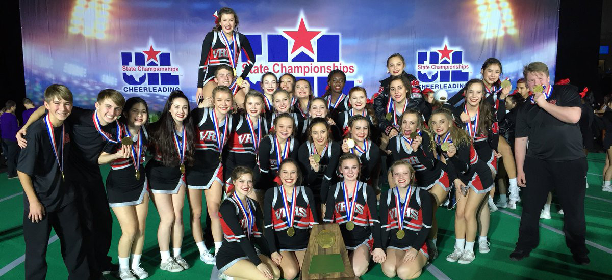 Vista Ridge HS cheerleaders placed third in the UIL Spirit State Championships coed division in Ft. Worth, Saturday, Jan. 13.