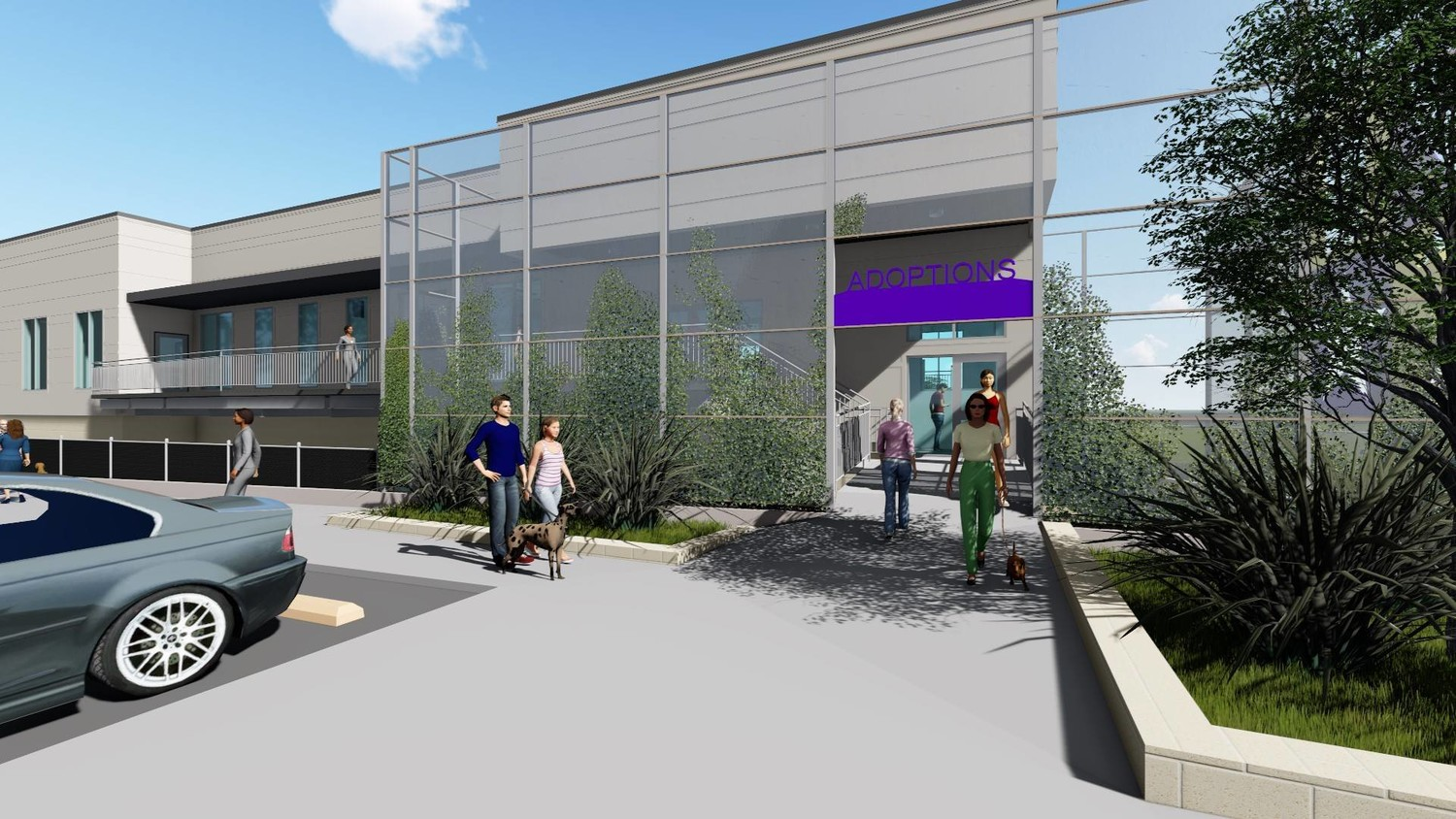 This early rendering shows what the completed Williamson County Regional Animal Shelter expansion will look like in Spring 2019.