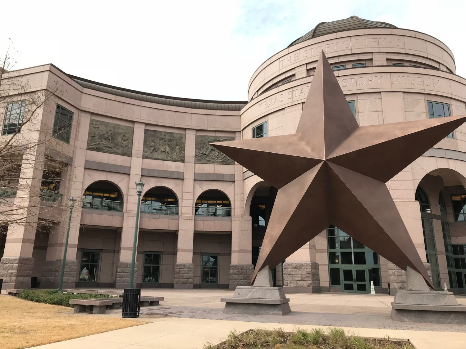 Student interns visited the Bob Bullock Texas State History Museum on Congress Avenue in downtown Austin during COOL Week to learn about curating.