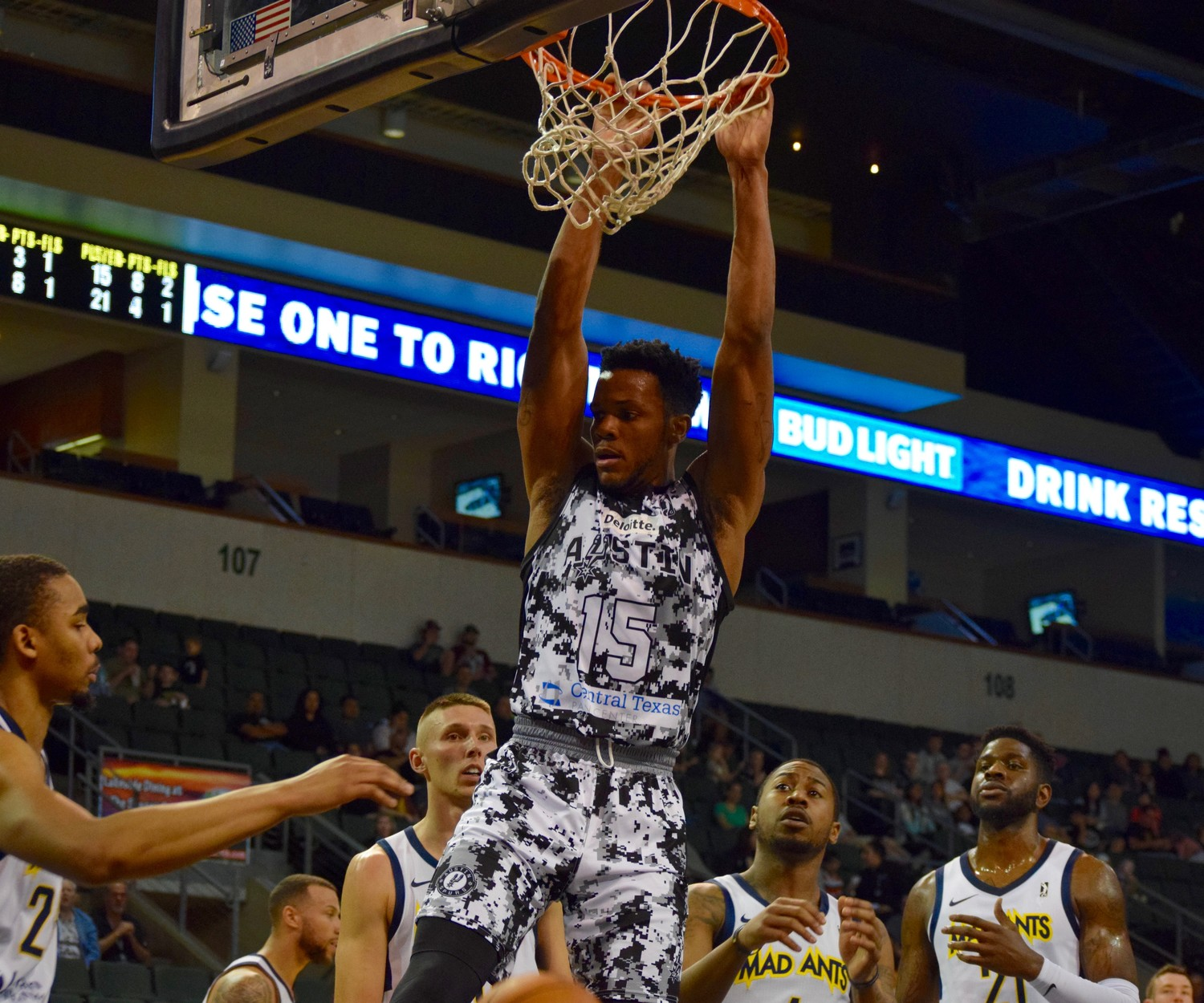 Jaron Blossomgame and the Austin Spurs qualified for the playoffs with a pair of wins this weekend. Austin has made the postseason in three of the last four years.