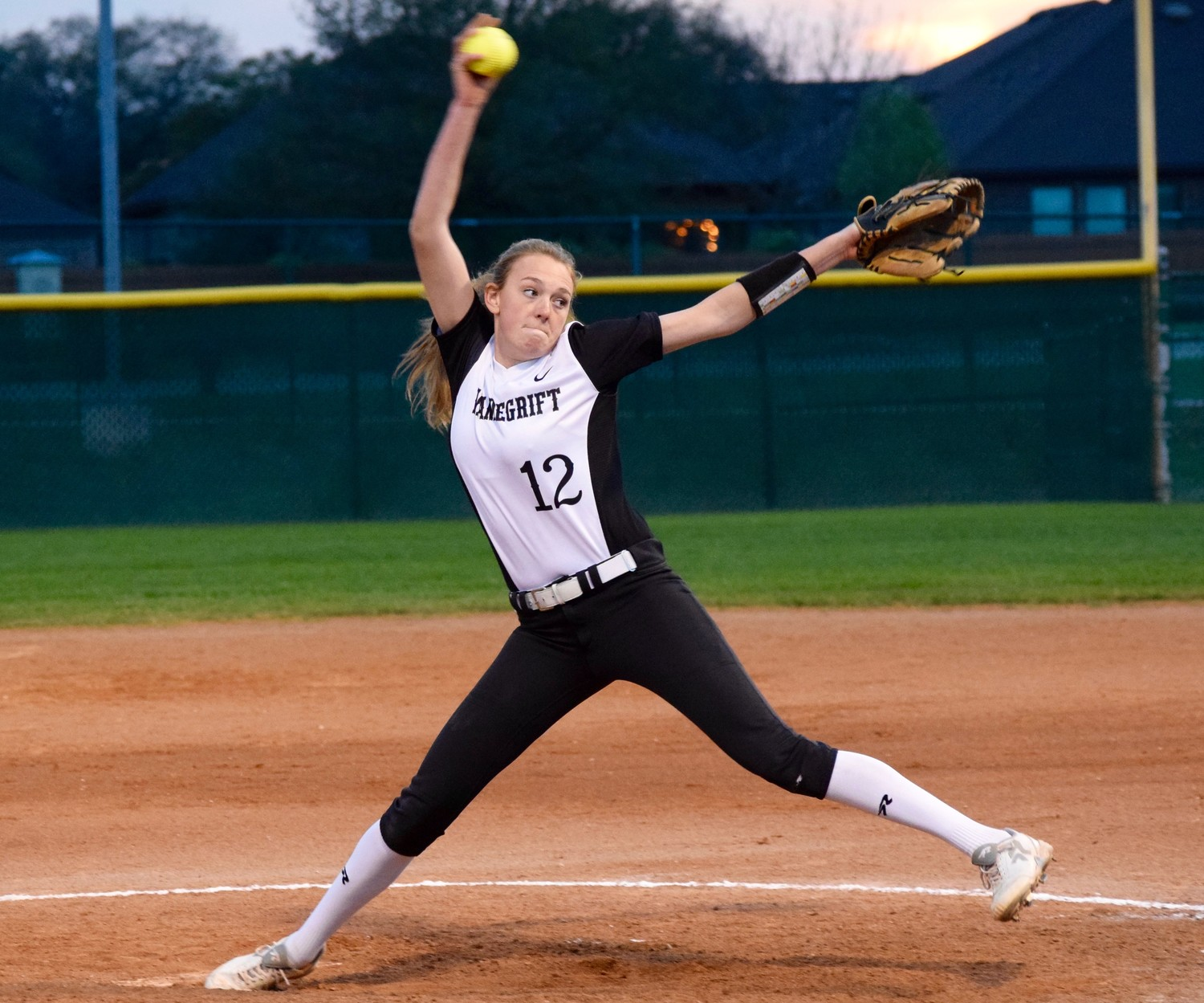 Sydney Wunch allowed two runs and eight hits with three strikeouts as Vandegrift beat Vista Ridge 5-2 on Monday for its first district win this season.