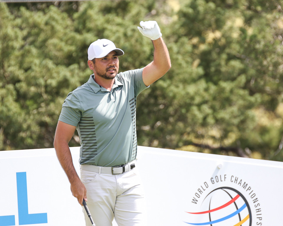 Jason Day prepares for a tee shot on No. 2 on the first day of the World Golf Championships Match Play Tournament at Austin Country Club in Austin, Texas, on Wednesday, March 21, 2018.