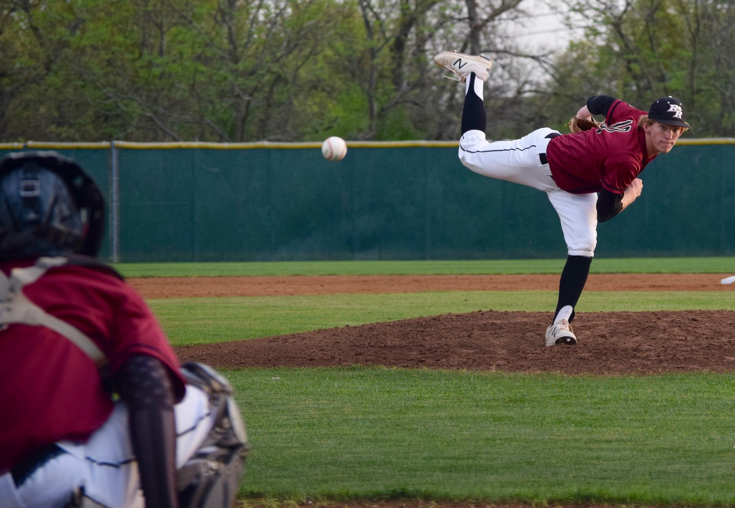 Hayden Thomas pitched a complete game shutout with 12 strikeouts as Rouse beat Cedar Park 4-0 on Friday night.