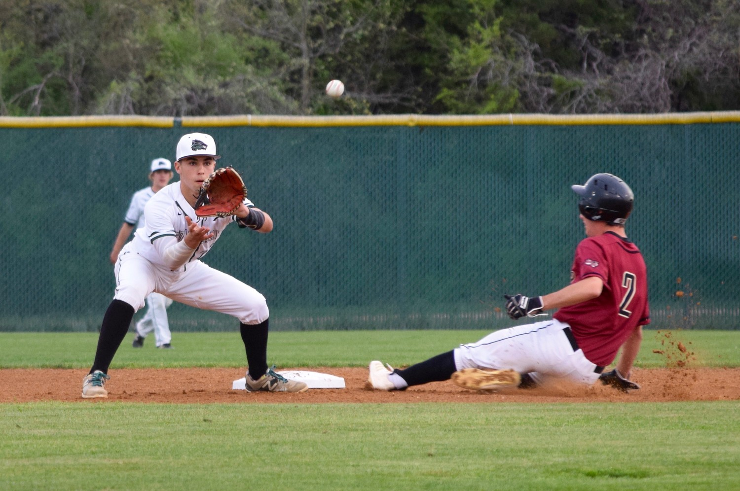 Ryder Hernandez, right, and Cedar Park lost to Rouse 4-0 at home on Friday night.