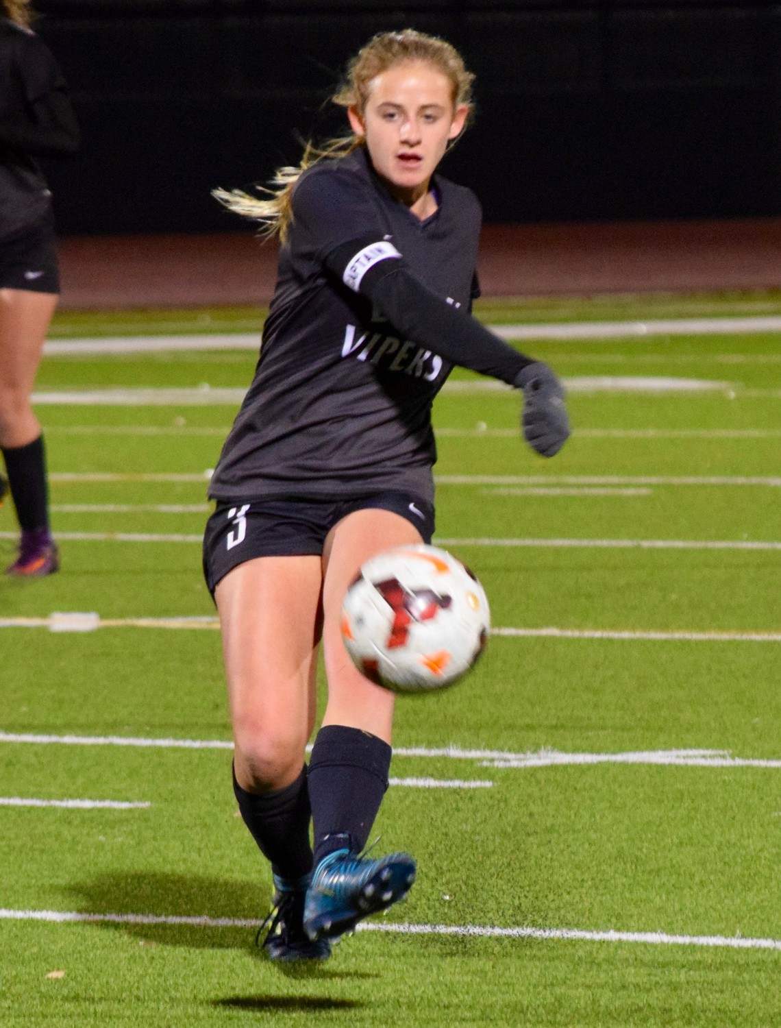 Grace Anders and Vandegrift won the District 25-6A title this year, finishing with a record of 9-1-2.