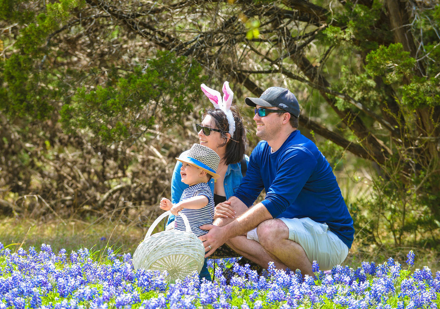 One family enjoyed the serenity in a field of Bluebonnets on the grounds of Rockbridge Church.