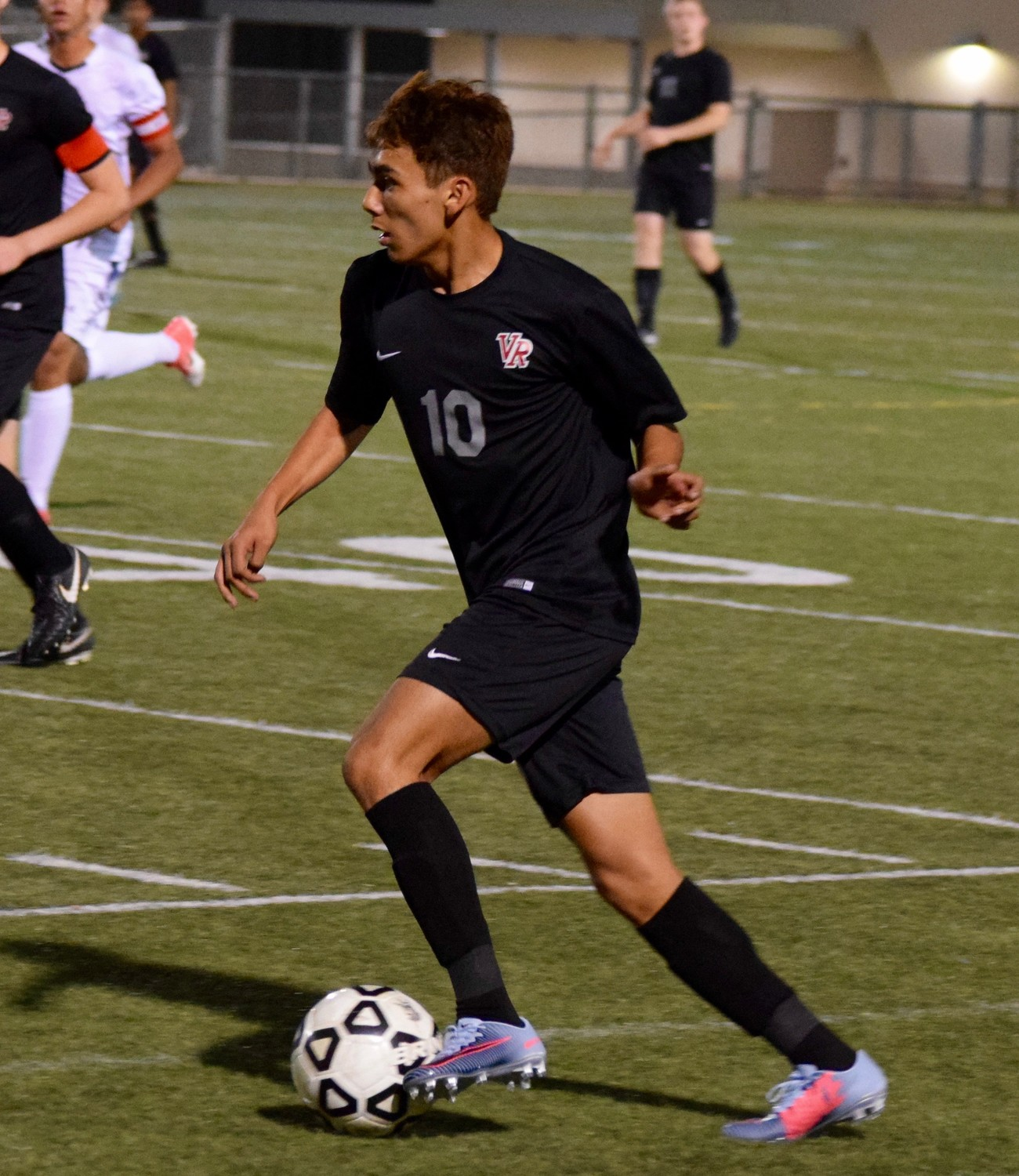 Angel Rocha and Vista Ridge lost to San Antonio Johnson Thursday night in the first round of the playoffs at Dripping Springs High School.