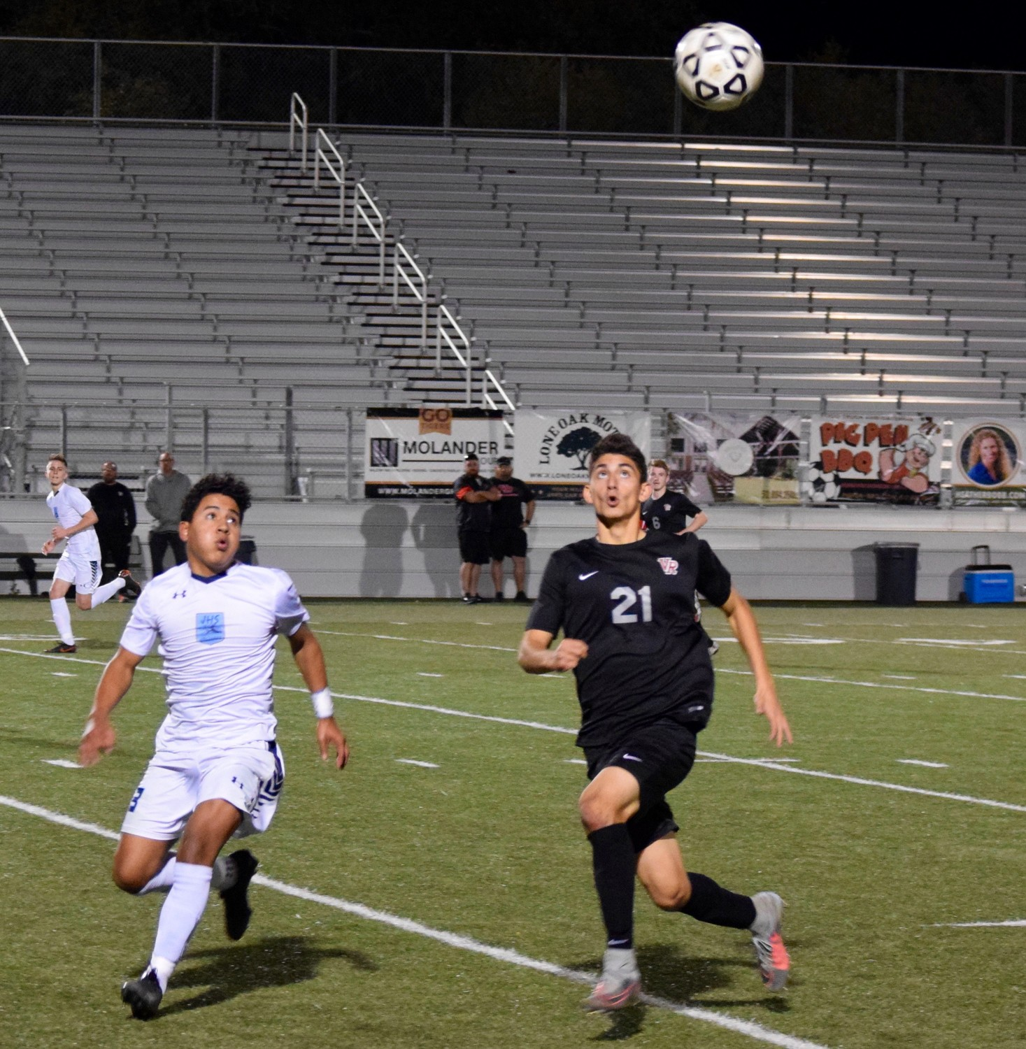 Armondo Vidal and Vista Ridge lost to San Antonio Johnson Thursday night in the first round of the playoffs at Dripping Springs High School.
