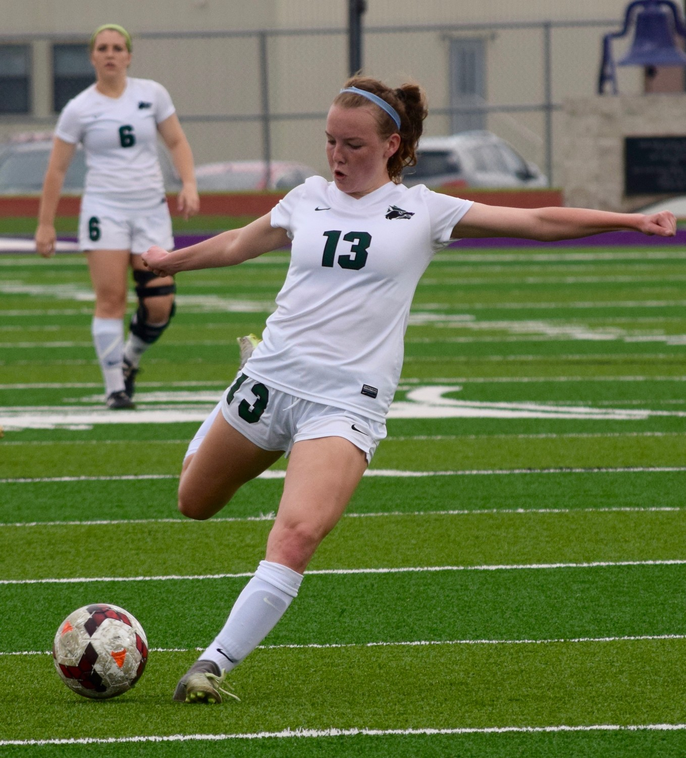 Ellie Carr and Cedar Park beat College Station 2-1 in the third round of the playoffs Tuesday night.