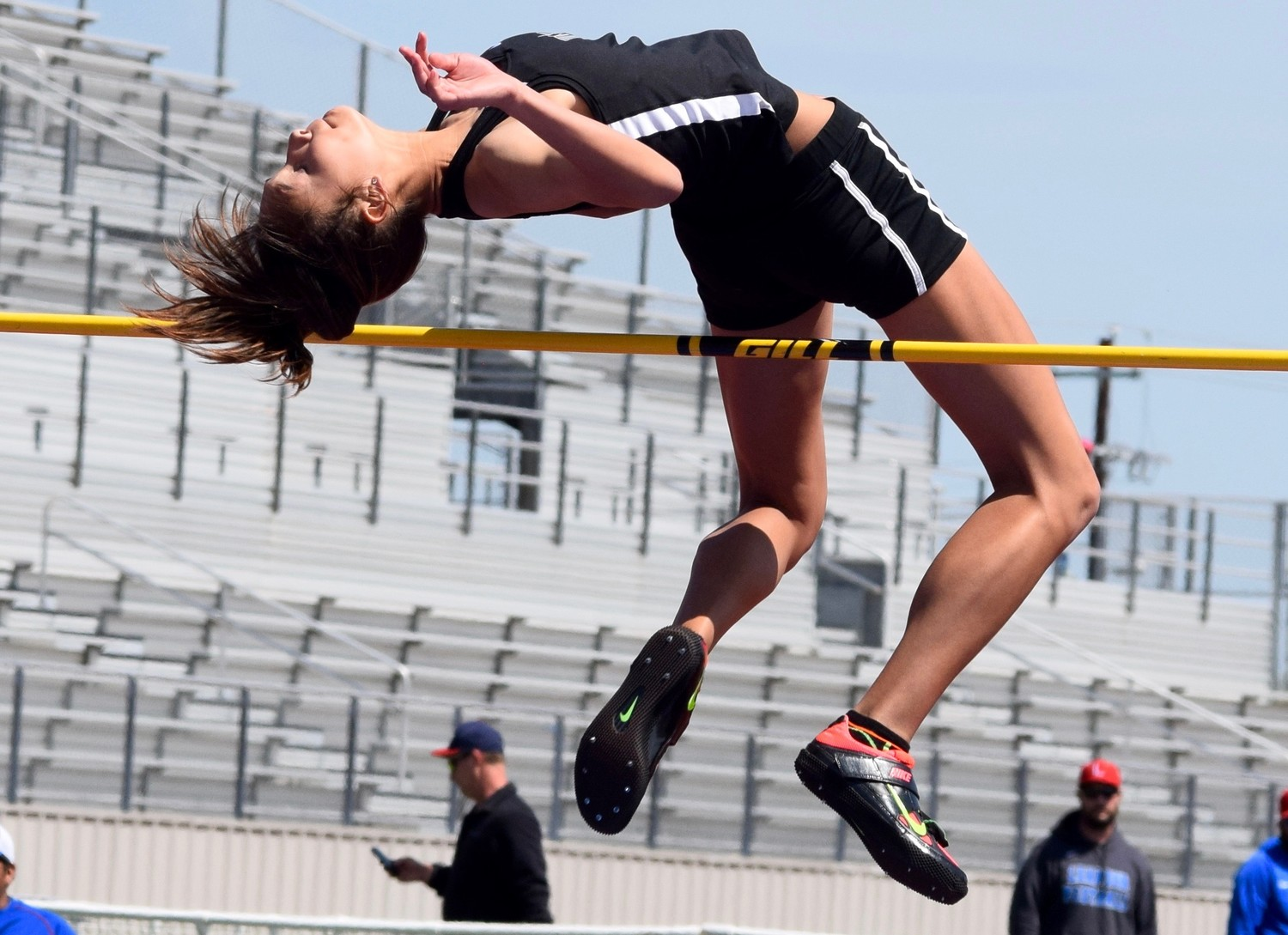 Vandegrift junior Kyla Peeples won the girls' high jump at the District 25-6A meet on Wednesday with a hight of 5 feet 6 inches.