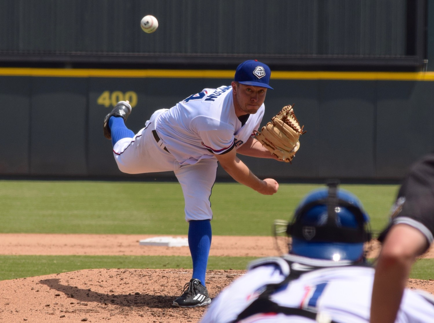Round Rock starter Adrian Sampson pitched six innings, allowing four runs — three earned — on six hits with three strikeouts as the Express beat the Oklahoma City Dodgers on Wednesday afternoon.