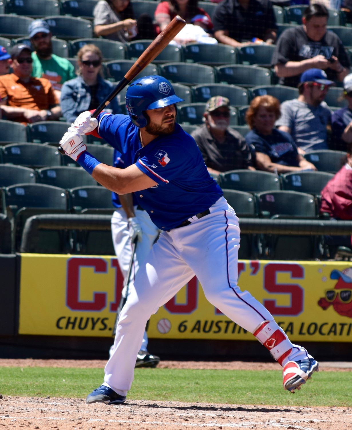 Tony Sanchez picked up his first hit with the Express, but Round Rock lost to the Colorado Springs Sky Sox 6-5 on Sunday afternoon.