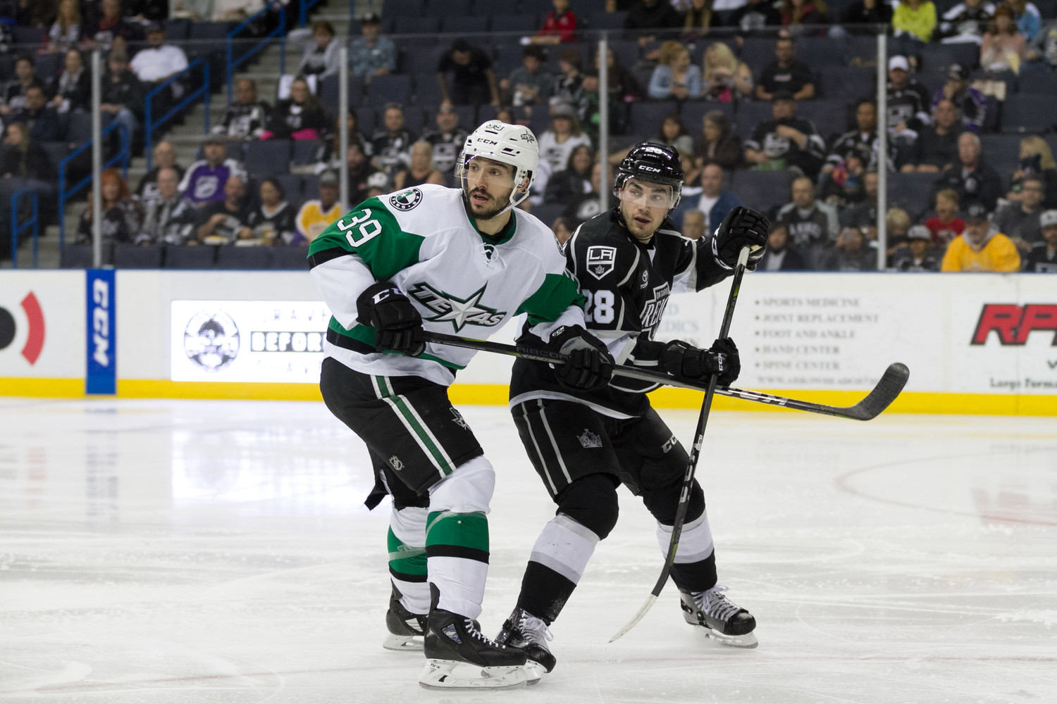 Samuel Laberge scored in double overtime and the Texas Stars beat the Ontario Reign 5-4 in Game 2 of the Pacific Division Semifinals on Sunday night.