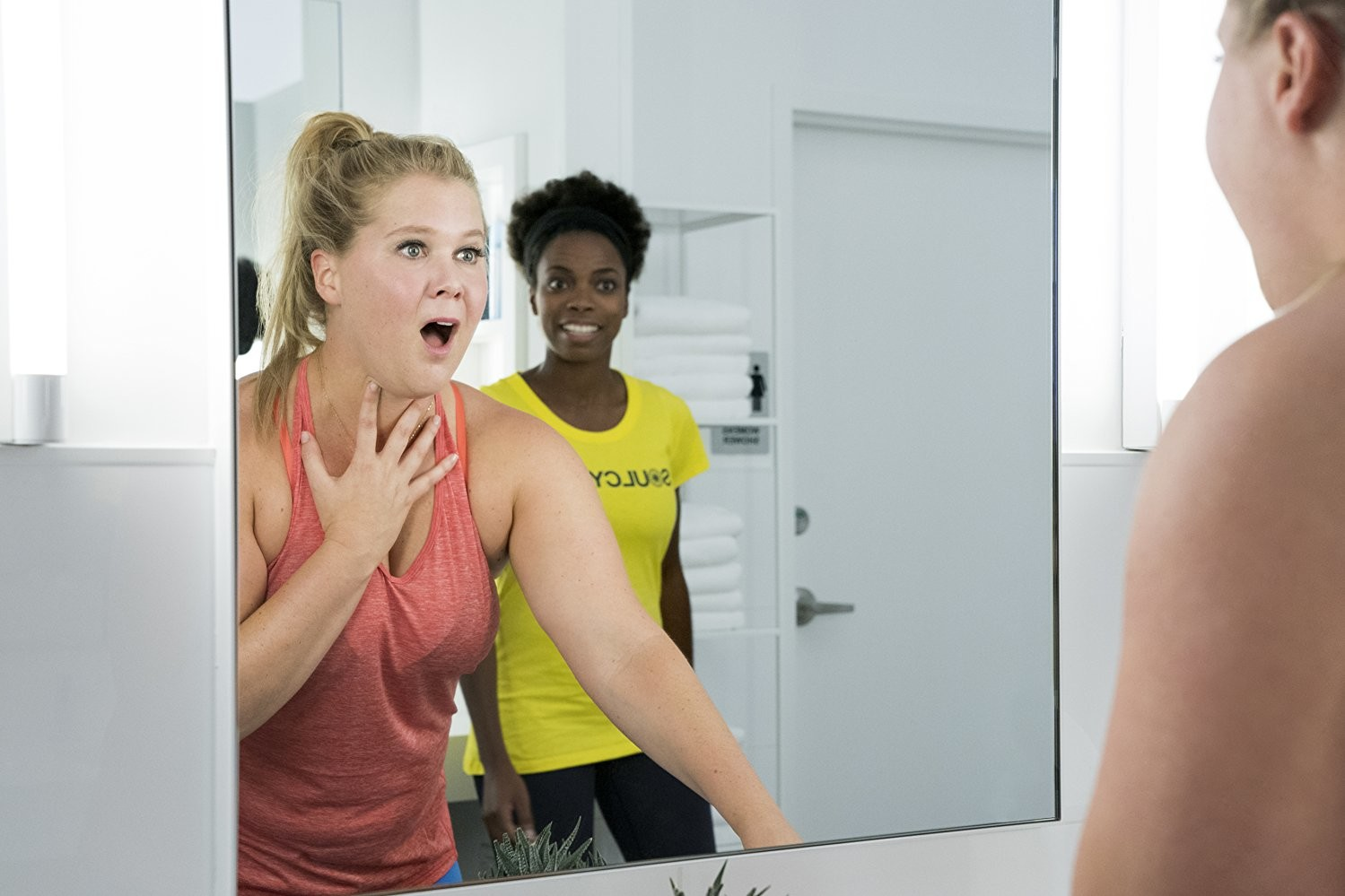 "Amy Schumer and Sasheer Zamata star in ""I Feel Pretty,"" in area theaters now."