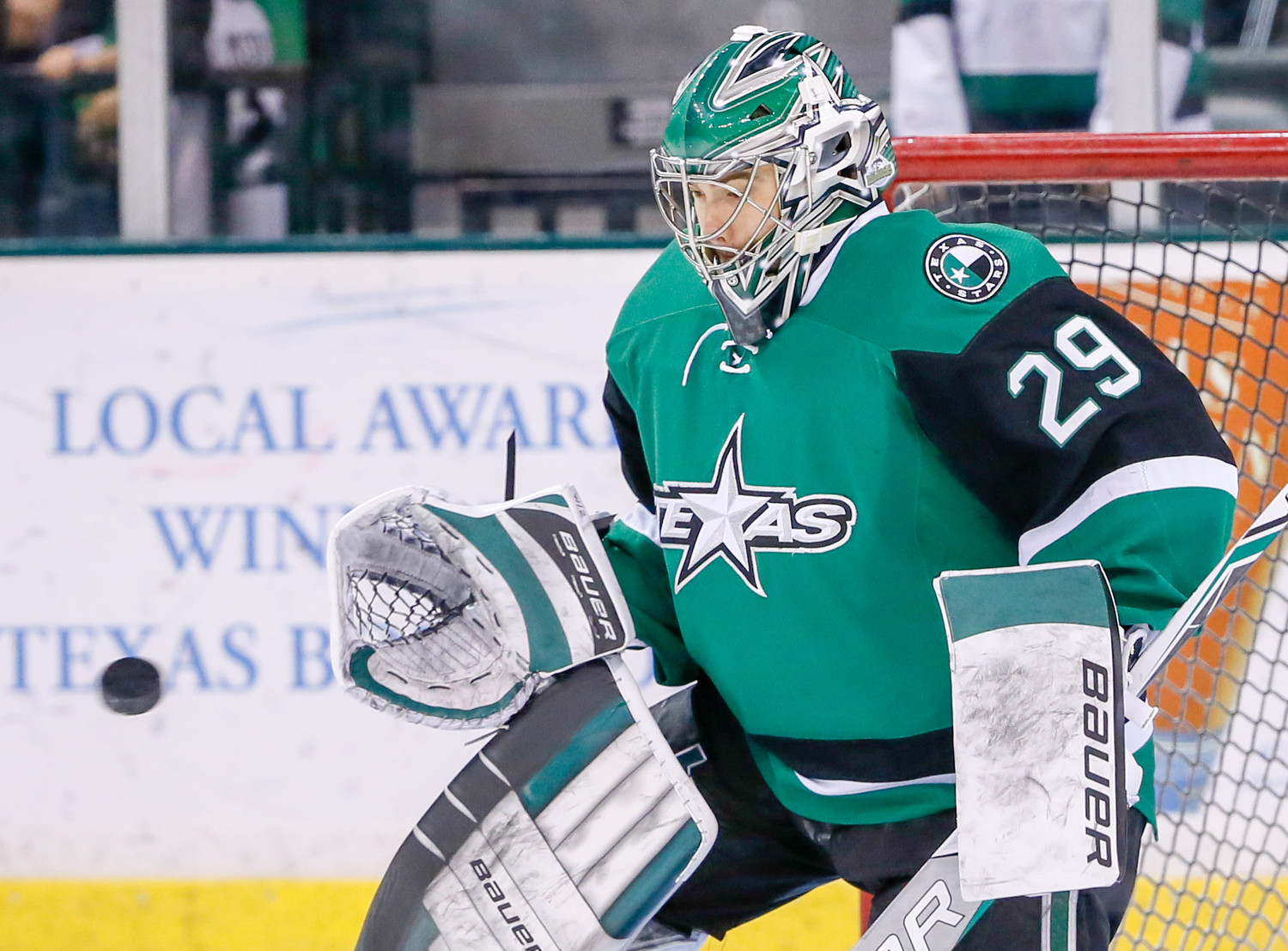 Mike McKenna and the Stars take on the Tucson Roadrunners in the second round of the Calder Cup playoffs. The Texas goalie stopped the last 91 shots he faced in the opening series win against the Ontario Reign.