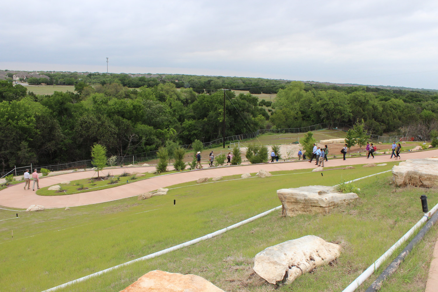 A look at the new hiking trails in  Brushy Creek Park.