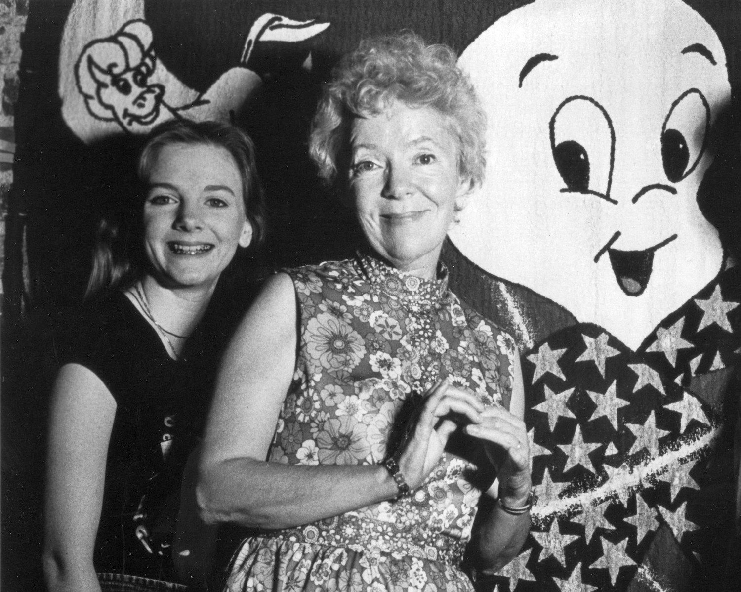 Alison Arngrim and mother Norma Macmilllan at a Hollywood salute to Casper.