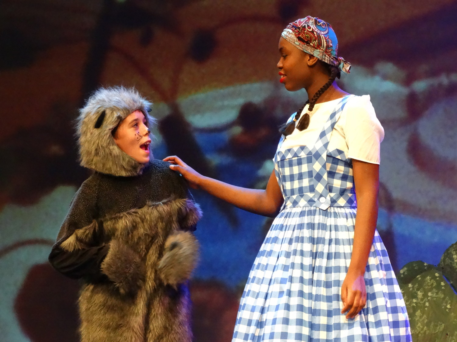 "Students from the Reclaim Arts Academy in Marble Falls perform in a production of ""The Wizard of Oz"" last month."