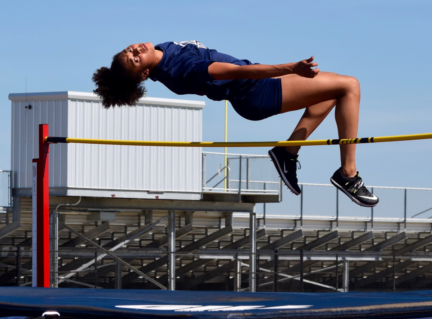 Glenn freshman Chloe Coffee qualified for the state track and field meet in the high jump with a leap of 5 feet, 4 inches at the regional meet.