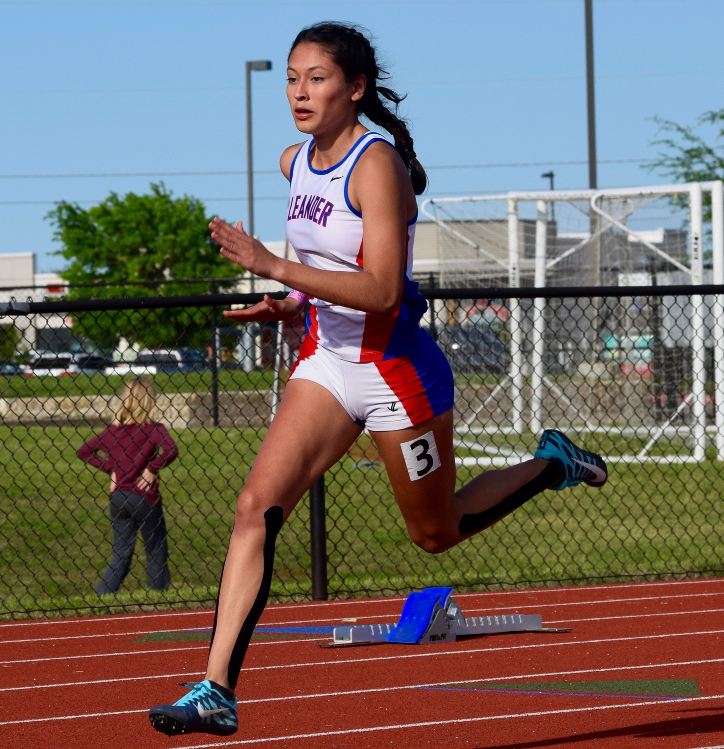 Leander sophomore Elizabeth Roca broke the school record in the 400-meter dash four times this season and is headed to her first state meet.