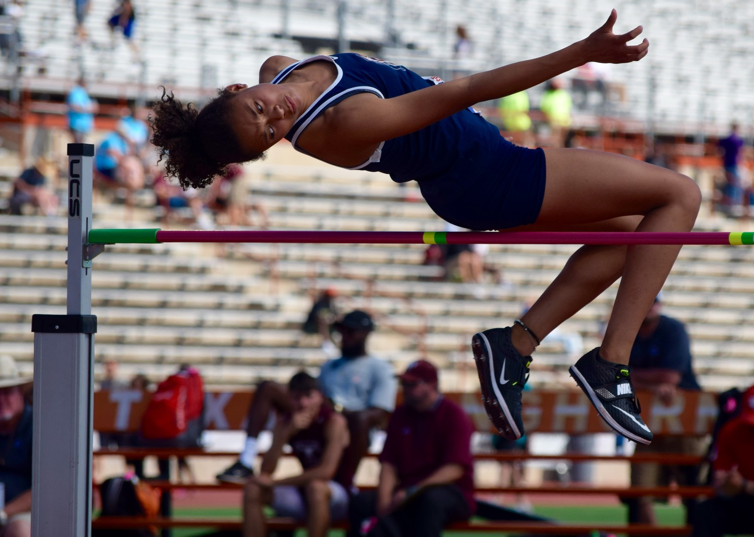 Glenn freshman Chloe Coffee finished fourth in the high jump at the State Track & Field with a jump of 5 feet, 4 inches.