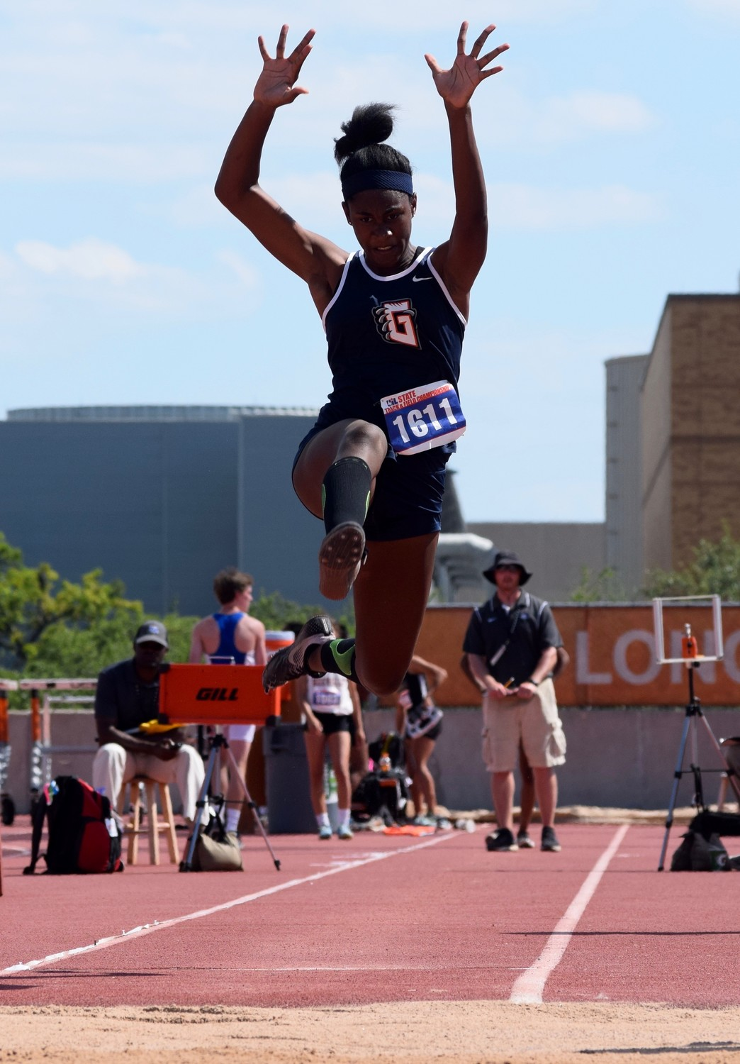 Glenn sophomore Gaby Thomas won two medals at the State Track & Field meet, finishing second in the triple jump and long jump. She finished ninth in the 100-meter dash.