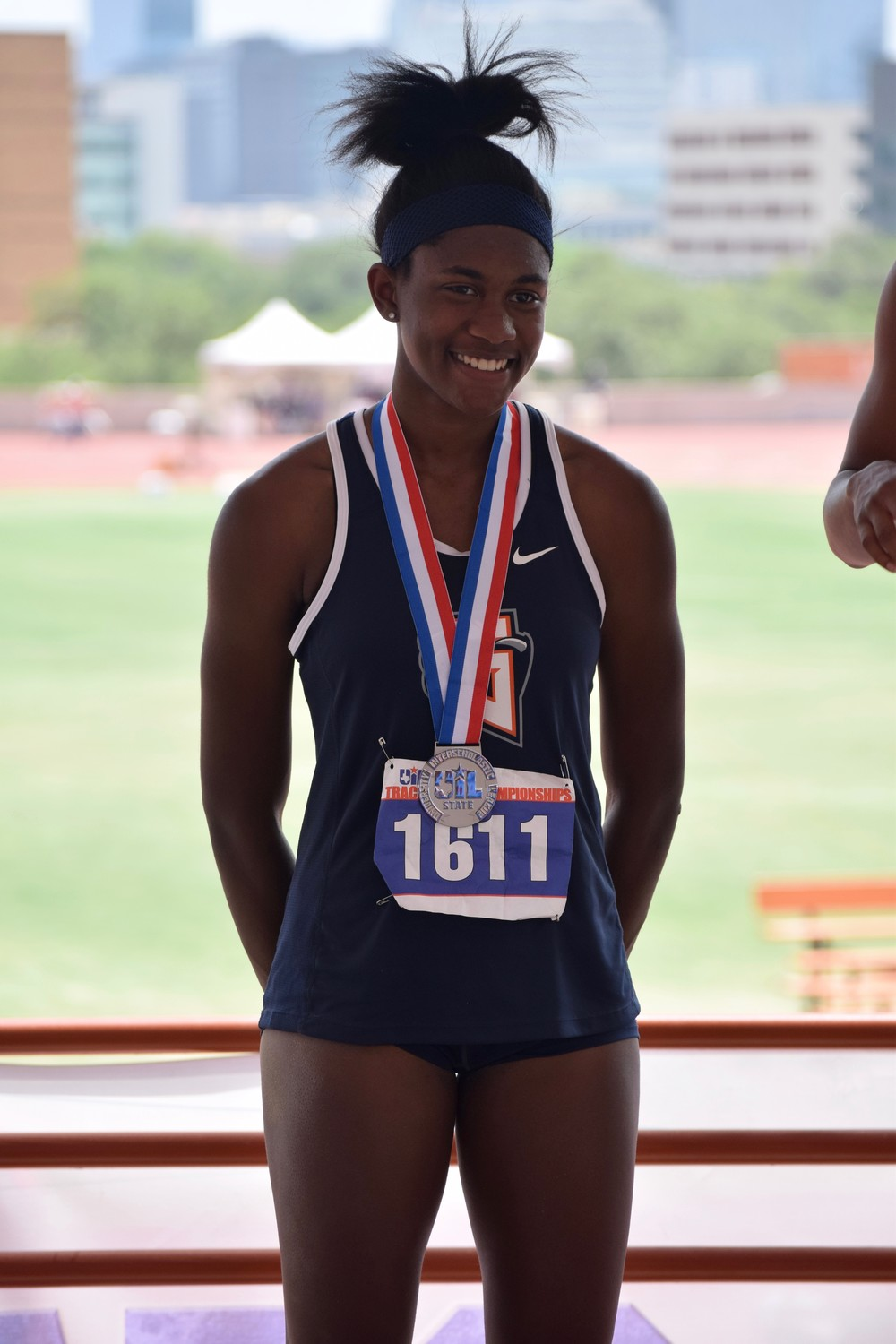 The two medals Gaby Thomas won at the State Track & Field meet last weekend were the first two in Glenn history.